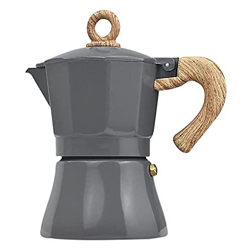 Máquina de espresso en la cocina 150/300 ml, cafetera Express Moka de aluminio 3/6 tazas para expresso italiano y café griego, fácil de usar y limpiar rápidamente la casa y el camping