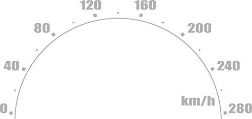 carstyling XXL Aktion !Car-Tattoo Tacho 350 x 715 mm Silber ~ schneller Versand innerhalb 24 Stunden ~
