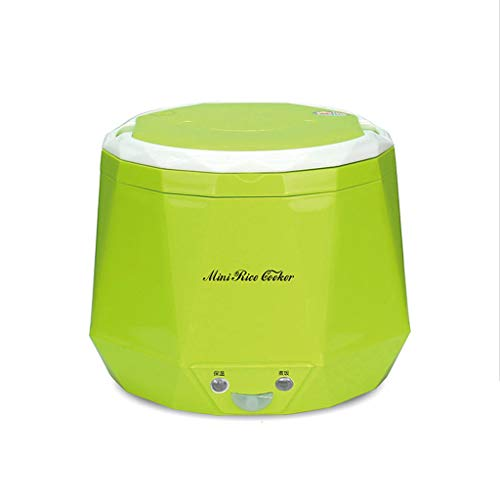 Mini cuiseur de riz de 1,3L utilisé dans la maison 220v ou la voiture 12v au grand camion 24v assez pour l'usage de deux personnes (Couleur : Green, taille : 220V)
