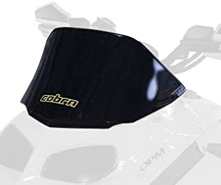 PowerMadd 13021 Cobra Windshield for Ski Doo Rev - Black - Low height