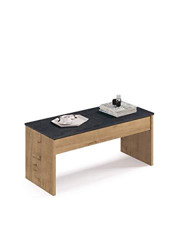 Muebles Pitarch Oslo Tavolo, Truciolato e Melanina Alta Densità, 58 x 100 x 50/47 x 100 x 50 cm