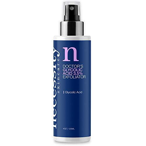 Necessity Skincare Doctors Glycolic Acid 3.5% Exfoliator Gel for Face, 4 Fluid Ounce