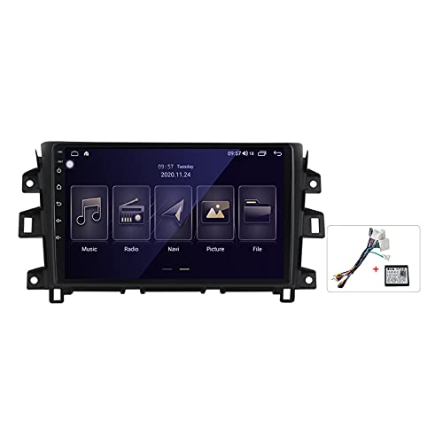 Gokiu Android 10 2 DIN Radio De Coche Navegacion GPS para Nissan Navara NP300 2011-2017 Soporte 5G WiFi DSP/FM Am RDS Radio de Coche Estéreo Carplay Android Auto/Bluetooth SWC,Plug b,M100