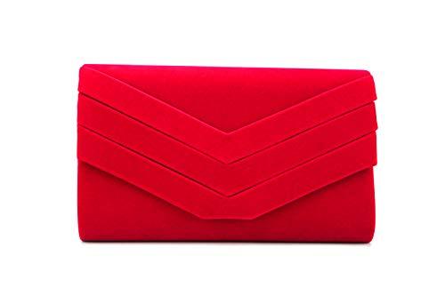 Nodykka Purses and Handbags Envelope Evening Clutch Crossbody Bags Velvet Classic Wedding Party Shoulder Bag for Women …