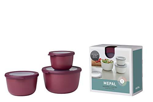 Mepal Cirqula Set 3-teilig, PP/TPE, Nordic Berry, 0 mm, 3