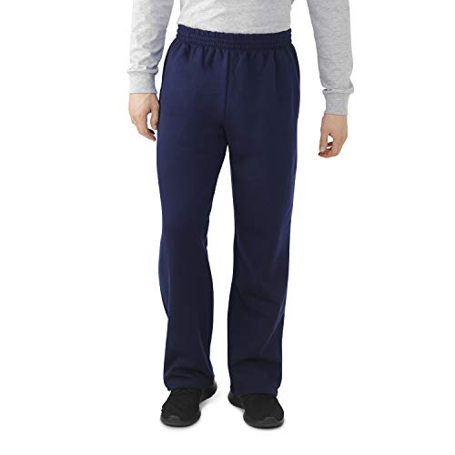 Fruit of the Loom Men's Fleece Sweatpants, Navy, Large