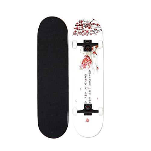 Tortoiseshell Complete Skateboard 31-Zoll-Cruiser Skateboards for Anfänger Mädchen Teens (alte Fragrance)