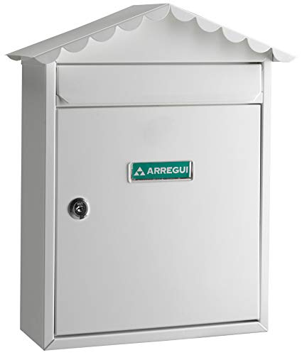 Arregui E5741 Buzón para exterior (acero), Blanco, 360 x 300 x 110 mm