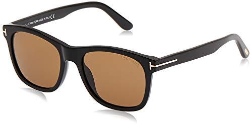 Tom Ford FT0595 01J Shiny Black Eric Square Sunglasses Lens Category 3 Size 55m