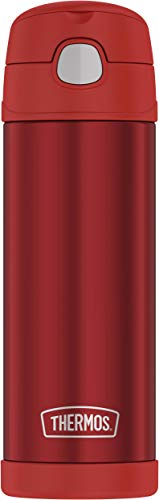 THERMOS FUNTAINER Stainless Steel Kids Bottle 16 Ounce Hot Pepper Red