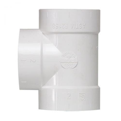 T-Abzweiger für Zentralstaubsauger Vakuumrohrsystem, 2-Zoll (50,8mm)