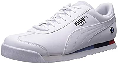 PUMA Men's BMW MMS Roma Sneaker, White-White, 11 M US