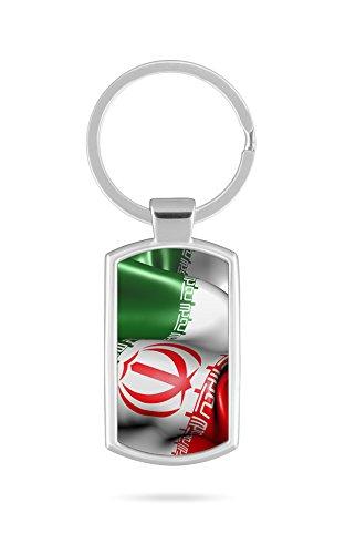 Schlüsselanhänger mit Gravur Wunschtext Name Iran Fahne