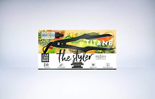 Jean Louis David The Styler - Plancha de Pelo Profesional con Revestimiento de Cerámica, 110 W de Potencia, para Todo Tipo de Cabello, Temperatura de 120 ° a 230 ° - Negro