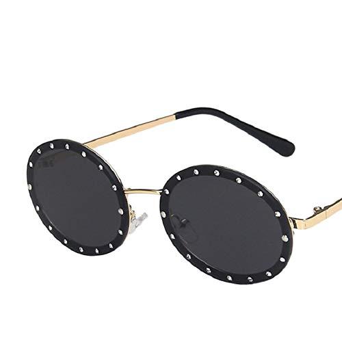 Gafas de Sol Gafas De Sol Polarizadas para Mujer Marco Vintage Galsses Gafas De Diseñador Retro Espejo Redondo Metal Steampunk 7