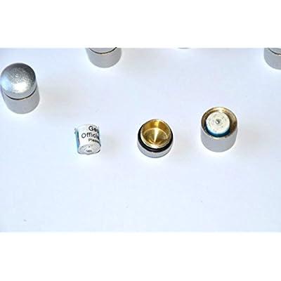 GEO-VERSAND 5 x Nano Silber 11169 Magnetisch mit 10 Logstreifen silber