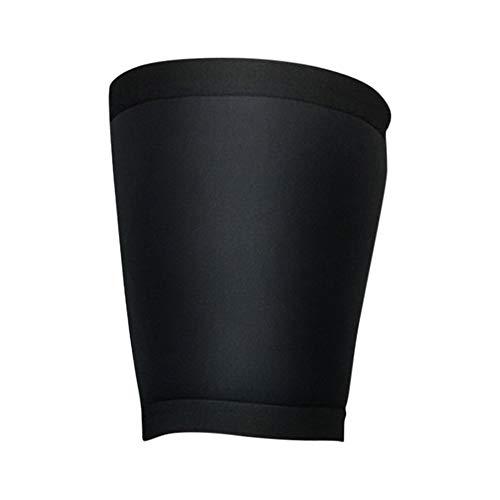 ghfashion Sport Stretch Sleeve Unisex Kompressions-Beinschutz für Beine, Oberschenkelbandage (1 Stück Nr. 1 Paar) L Schwarz