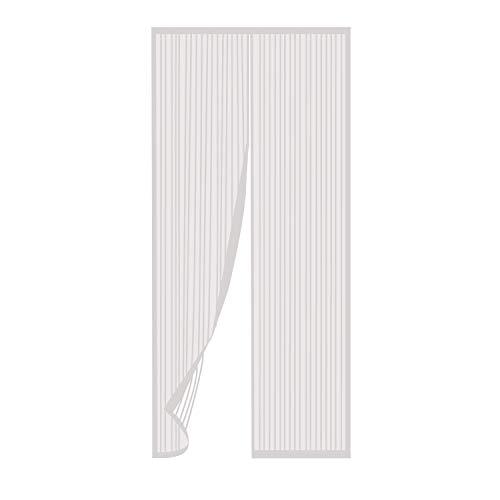 TRIXES Puerta mosquitera magnética Blanca-Panel Cortina