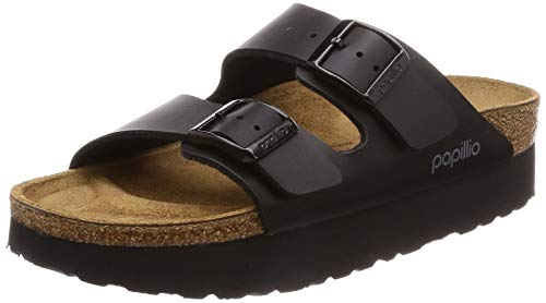 Papillio by Birkenstock Women's ARIZONA Open Toe Sandals, Black (Platform Black Platform Black), 40 EU, 7 UK