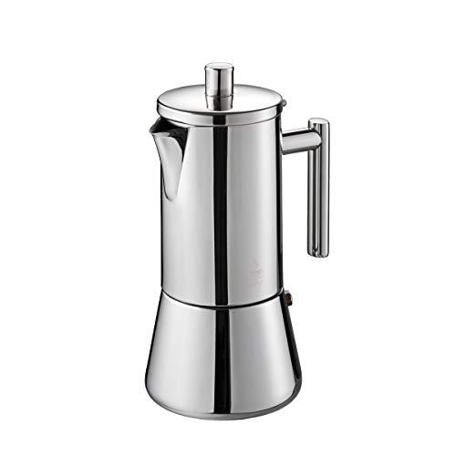Der Original GEFU Espresso-Kocher Nando 16380 – Premium Edelstahl Kaffee-Maschine für 4 Tassen höchsten Café-Genuss