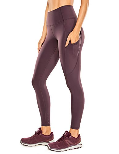 CRZ YOGA Women's Naked Feeling High Waisted Yoga Pants with Pockets Workout Leggings Camo - 25 Inches Arctic Plum 25'' Small