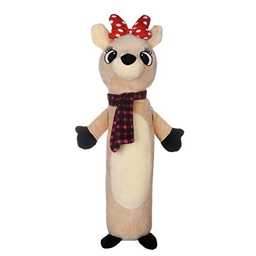 Rudolph The Red Nose Reindeer Toys for Dogs | 24 Inch Long Dog Toy, Clarice Plush Dog Toy | Holiday Fabric Plush Dog Toy for All Dogs | Holiday Dog Toys for All Occasions
