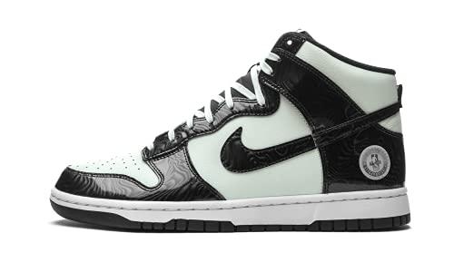 Nike Dunk HI, Zapatillas de bsquetbol Hombre, Barely Green Black Barely Green White Black, 45.5 EU