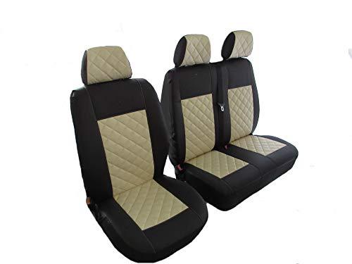 Texmar Designet - Fundas de asiento para Mercedes VITO CARGO VAN 2004 – 2015 para volante a la izquierda o a la derecha, color beige