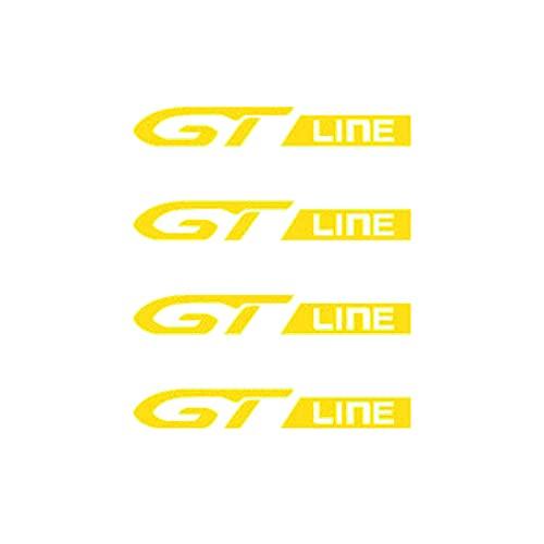 Etiquetas engomadas de las rayas de las llantas GT Line Ruedas de automóviles llantas pegatinas calcomanías Emblema Compatible con Peugeot GT 407 408 508 2008 3008 4008 5008 Rifter Auto Auto Accesorio