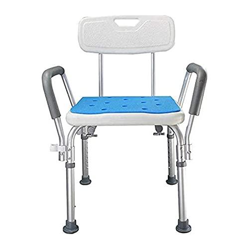 SXFYWYM Duschhocker Badesitze Badhocker, Wasserdichter Hochleistungs-Duschstuhl Mit Gepolsterten Armlehnen Und Rücken Für Behinderte, Behinderte, Senioren