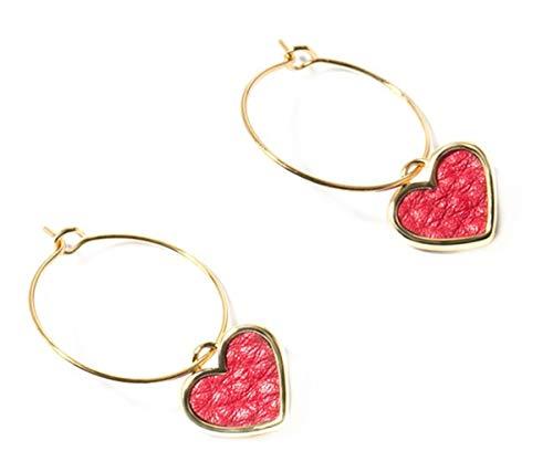 WANGLETA Stud Earrings gota aretes de Regalo para la mujer piel de...