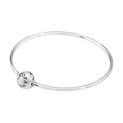Pandora Damen-Armreif Essence mit Kugelverschluss 925 Silber 16 cm-596006-16