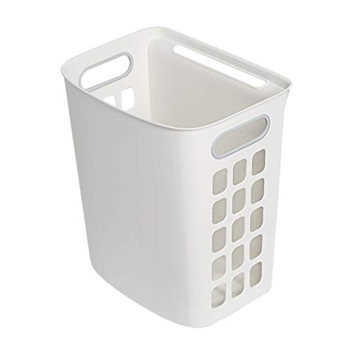 YS&VV Laundry Basket Wall-mounted Dirty Clothes Storage Basket Household Bathroom Dirty Clothes Basket Toilet Toy Dirty Clothes Basket White