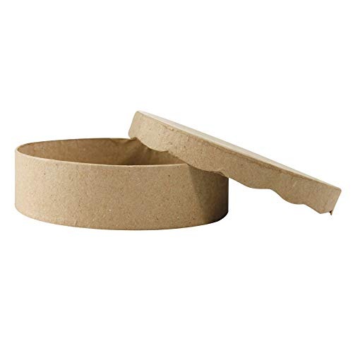 Decopatch–bt008o Caja redonda de papel Mache
