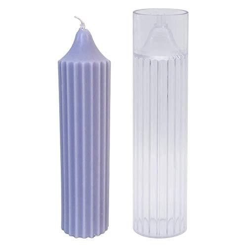 RJJX Säule Kerzenform Zylinder RIP Kunststoff Kerzenformen 6 Zoll Für Kerze Machen DIY Handgemachte Kerzen (Color : Transparent)