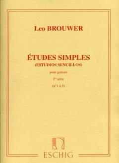 ETUDES SIMPLES 1 (1-5) - arrangiert für Gitarre [Noten / Sheetmusic] Komponist: BROUWER LEO