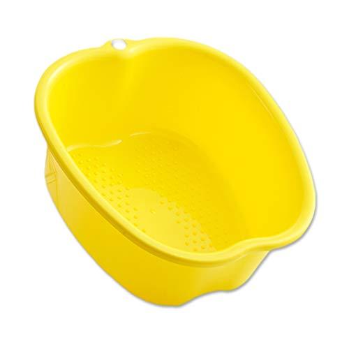Grande Bassin de Spa, Bassin de Trempage des Pieds en Plastique Robuste pour Bain de Pieds,Spa deau et Massage des Pieds,pédicures, détox et Massage (Yellow)