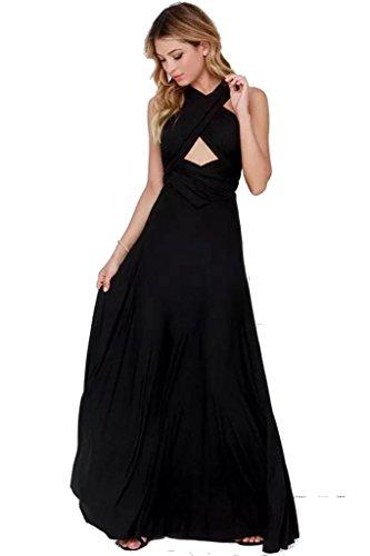 Infinity jurk, baljurk, bruidsmeisjesjurk, maat 34-42 vele kleuren wikkeljurk lang, 70 verschillende wikkelsoorten, Convertible dress, bruidsjurk, bruidsjurk, bruidsmeisje, één maat, stretch