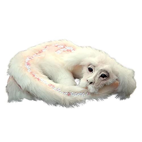 Fuchur aus der unendlichen Geschichte Plüsch Dekoration Kawaii wie Ein Drachen wie EIN Hund wie EIN Fuchs Puppen Ornaments Süß Stofftiere Figuren Statue Kuscheltier für Erwachsene Kinder (White)