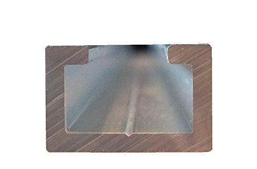Aluminium C-Profil, 1m, passend für M8 Schraube, eloxiert, Alu C Profil, 17x11mm