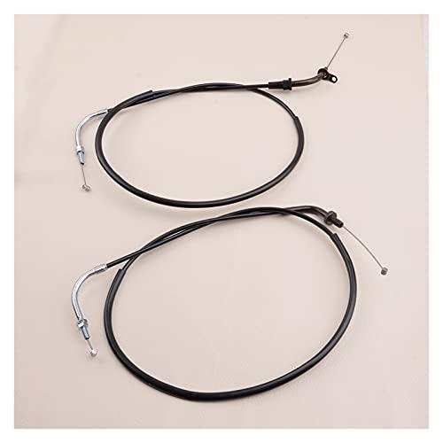 1 par de cables de acelerador de motocicleta ACC APT para XVS1100 XVS1100A XVS1100AT V-STAR 2005-2008 5PB-26311-10 5PB-26312-10 (Color : A)
