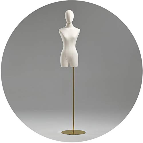ZHANWEI Maniquí De Costura, Ropa De Mujer Altura Ajustable Maniquí, Soporte Exhibición Moda Vestido Novia Forma del Vestido, Forma Cabeza Brazo (Color : A, Size : Medium)
