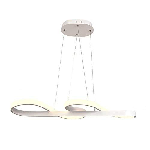 MQQ Araña Nórdica, LED Dimmable Post-Moderno Lámpara Colgante De Moda Aluminio Colgante Luz Creativa Espiral Colgante Lámparas De Techo (Color : Warm Light)