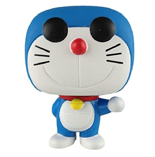 LUGJ Funko Pop Doraemon Kawaii Q Versión Nendoroid Figura De Anime Jingle Cat En Caja Pop Vinilo Figuras De Acción De Juguete 10Cm, Colección De Decoración De Juguetes para Niños