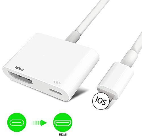 HDMI-Adapter für Handy, 1080p, digitaler AV-Adapter, HDTV-Synchronisation, HDMI-Anschluss mit iPhone/Pad/Mini/Pro (kompatibel mit iOS 12, keine App nötig)