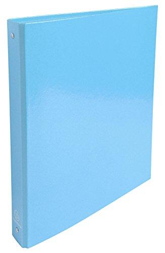 Exacompta Iderama - Carpeta A4 con 4 anillas de 30 mm, lomo de 40 mm, color azul