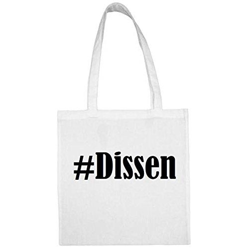 Tasche #Dissen Größe 38x42 Farbe Weiss Druck Schwarz