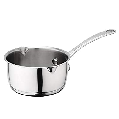 Asvert Mini Butter Melting Pot, Butter Coffee Milk Warmer with Spout 18/10 Tri-Ply Stainless Steel (500ml)
