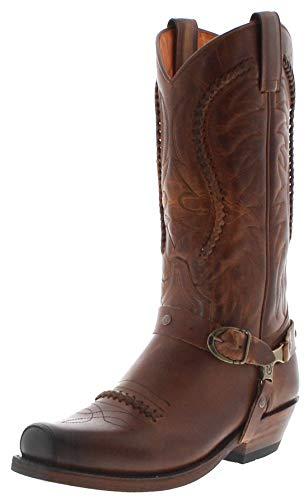 Sendra Boots Unises Cowboy Stiefel 3434 Evo Tang Westernstiefel Lederstiefel Bikerstiefel Braun 37 EU