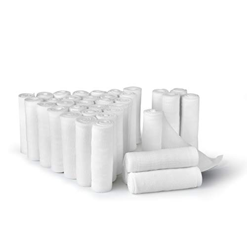 D&H Medical 36 Bulk Pack Gauze Stretch Bandage Roll, 3 Inch X 4 Yards, Used for Wound Care, Easy to Use Cotton Ply Rolled Hand Wrap Dressing Ankles & Knees. Add to First Aid Supplies